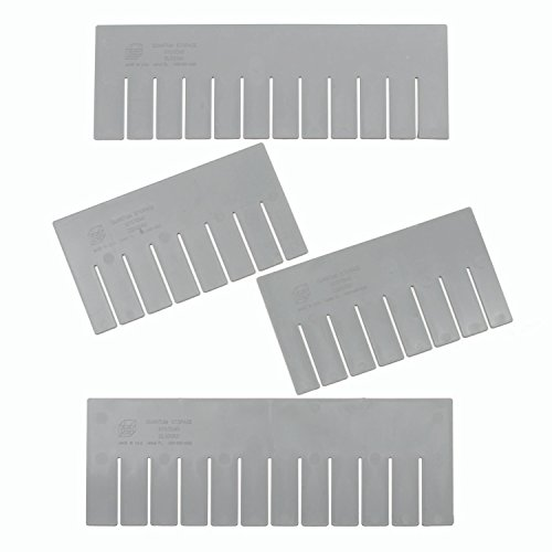 Quantum Storage Systems DS93030 Short Divider for Dividable Grid Container DG93030, Gray, 6-Pack