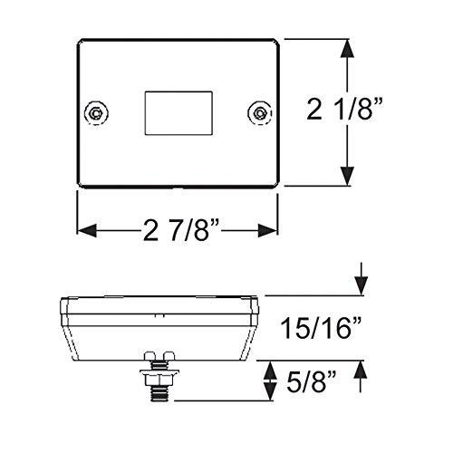 028845003116 - Blazer C6423 Square Trailer Light Kit - Red carousel main 8