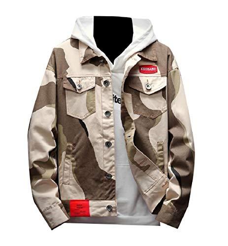 Bottone Di Mogogo Plus Multicamo Giallo Size Di Jeans Loose Tasche Uomo Da Colore fit Giacche qqEr7p