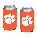 NCAA Clemson - Neoprene Pocket Coolies (2) | Clemson Tigers Collapsible Beverage Insulators - Set of 2
