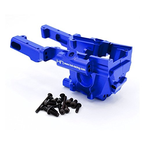 Hot Racing RVO1206 Secure Lock Front Bulkhead 1/10 Revo - Blue