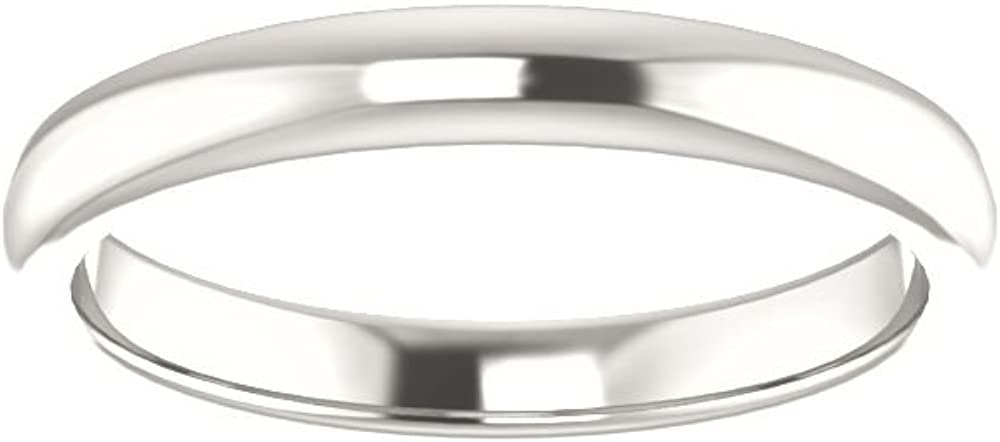 Size 7 Bonyak Jewelry Sterling Silver Band for 8x6 mm Emerald Ring