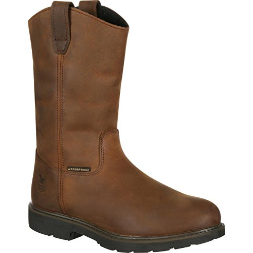 - Georgia GB00085 Mid Calf Boot, Brown, 8.5 W US