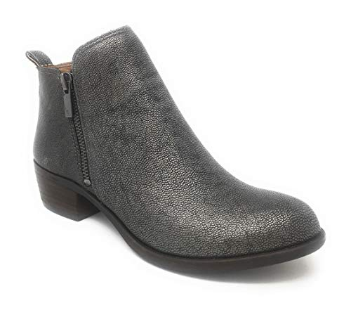 Lucky Brand Women's Basel Boot, Pewter, 10 M US
