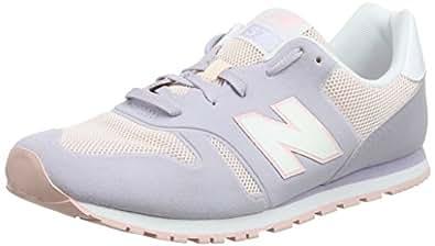 New Balance Ka373v1y, Zapatillas Unisex Bebé, Gris (Grey/Pink), 29 EU