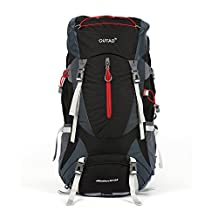 OUTAD 65L(60L+5L) Hiking Backpack, Camping Backpacking Mountaineering Hiking Multi-Day Pack