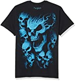 Liquid Blue Men's Vampire Skulls T-Shirt, Black, X-Large