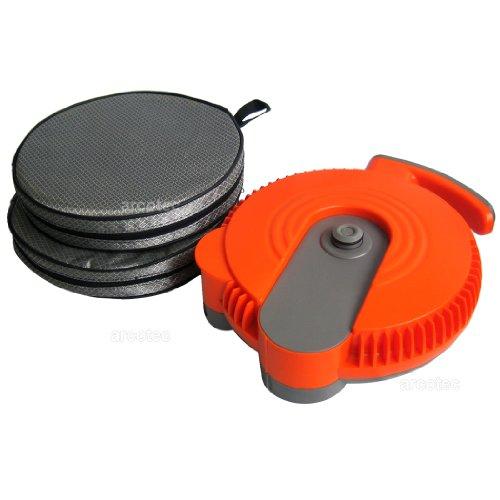 portabler wash2go Camping Druckreiniger mit Tragetasche - faltbarer Wassertank, 6m Schlauch, Sprühpistole, versch. Aufsätze, integrierter Akku, 12V Anschluss, 3-9 bar Wasserdruck
