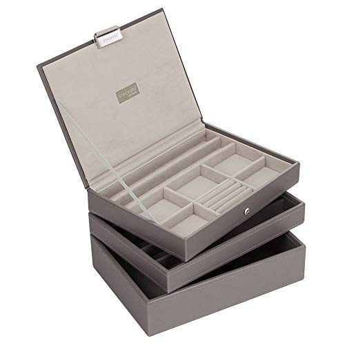 Stackers by LC Designs Set of 3 Mink & Grey Medium Stacker Jewelry Trays -Style - Set Stackers