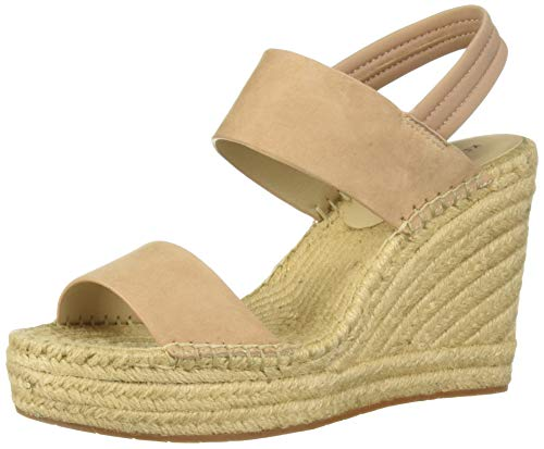 Kenneth Cole New York Women's Olivia Simple Espadrille Wedge Slingback Sandal, Buff 9.5 M US (Cole Kenneth Wrap)