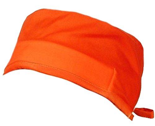 Mens And Womens Medical Scrub Cap - Neon Safety Orange - Orange Scrub Cap