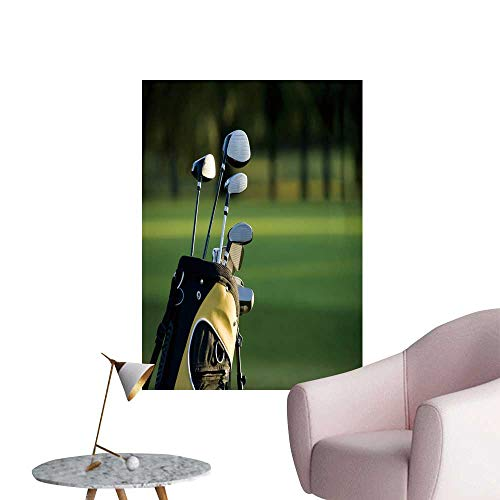 SeptSonne Vinyl Wall Stickers a Set up New Golf Clubs on a Golf Course Perfectly Decorated,24