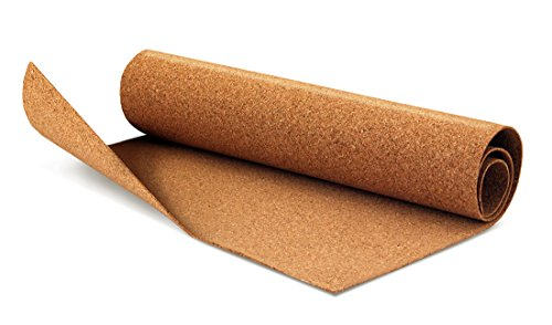 Hygloss Products Rolled Cork Sheet - 2 mm Thick Cork Roll - 12 x 24 Inches, 1 Roll
