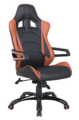 41y66QY58JL - Boraam 97917 Christopher Adjustable Modern Office and Gaming Chair, Sienna & Black, One Size