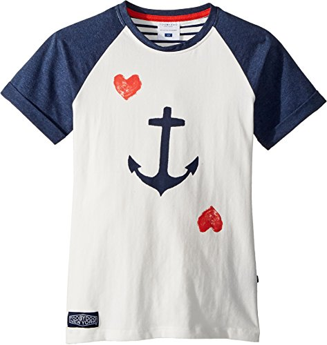 - Toobydoo Baby Girl's Ship Ahoy! Anchor Tee (Toddler/Little Kids/Big Kids) White/Navy 2T Toddler