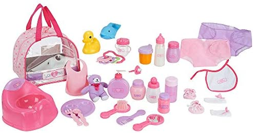 109374731e Amazon.com: You & Me 69928 30 Piece Baby Doll Care Accessories in Bag: Toys  & Games