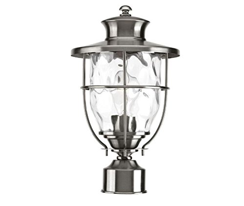 Progress Lighting Beacon Collection Outdoor Stainless Steel Post Lantern by Progress Lighting