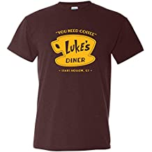 UGP Campus Apparel Luke's Diner - Girls Stars Hollow Gilmore Novelty TV Show T Shirt