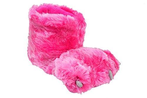 gibra - Zapatillas de estar por casa de tela para niño Rosa - rosa