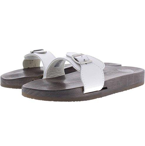 Berkemann / Original-Sandale / Weiß Glattleder / Sohle: Braun / Art: 10100-100 / Unisex Weiß