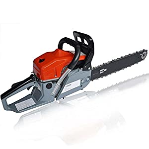 """Utheing Chain Saw 20"""" 2 Stroke 4.2HP Gas Powered with Smart Start, Super Air Filter System, Automatic Carburetor and Tool Kit (52cc)"""