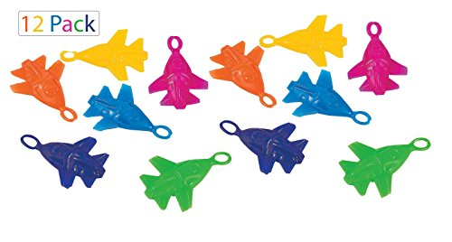 Price comparison product image Assorted Colorful Stretchy Flying Planes 12 Pack – 3.5 Inches Of Cool and Fun Slingshot Planes - For Kids And Adults - Great Party Favors, Bag Stuffers, Fun, Gift, Prize - By Kidsco