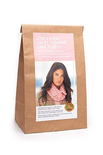 Lion Brand Yarn One & Done Kits 606-101 Pink Lady Crochet Cowl