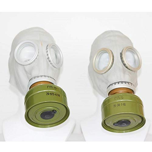 OldShop Set of two original soviet russian USSR gas masks GP-5 in gray both...