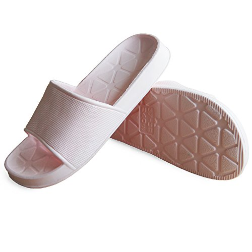aLins Women Men House Sandal Quick Drying Non-Slip Shower Bath Slippers Pink yXpQW