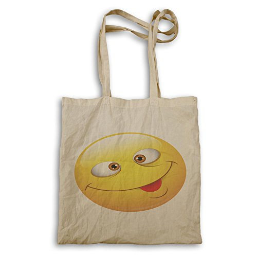Smiley Happy Face Divertente Novità Tote Bag A509r
