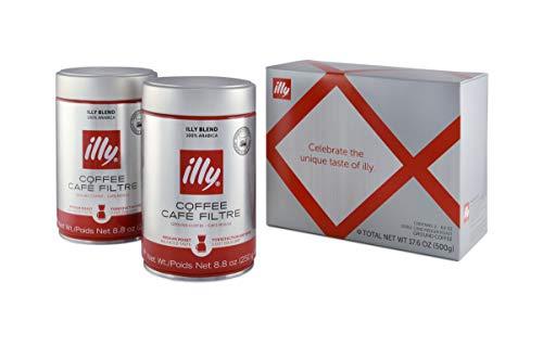 illy - Medium Roast Ground Drip Coffee Gift (Pack of 2), 17.6 Ounce