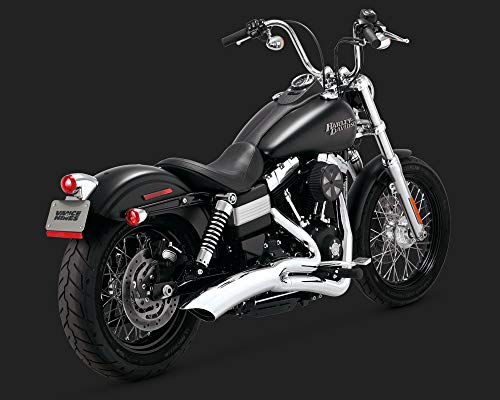 (12-17 HARLEY FXDB3: Vance & Hines Big Radius 2-Into-1 Exhaust (Chrome))
