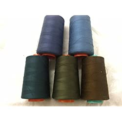 5 A& E Polyester Thread Sets, Machine & Serger 6000 Yards Weight Size Tex 27