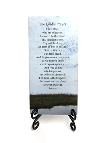 - Lifeforce Glass The Lord's Prayer Inspirational Glass Plaque. How Jesus Taught Us to Pray. Serenity for Your Desk, Folding Easel Included