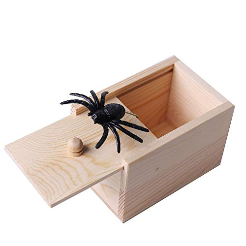 Halloween Box Scare (WesGen Spider Prank Scare Box,Handmade Fun Practical Joke Boxes for Halloween Party Favors and)