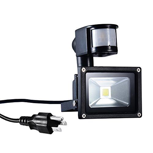 Outdoor Security Lights That Plug In: PryEU 10 Watts LED Motion Pir Sensor Outdoor Security