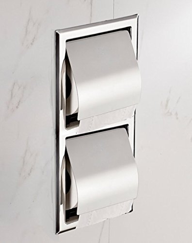 Stainless steel concealed Towel rack/ in-wall/ embedded toilet paper holder/ Hotel toilet roll holder-C