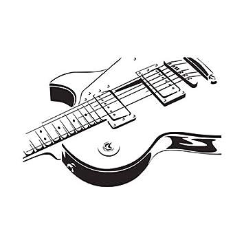Zxdcd Guitarra Eléctrica Etiqueta De La Pared De Vinilo Calcomanía Arte Decoración Del Hogar Salón Extraíble Instrumento Musical 66 * 44 Cm: Amazon.es: ...