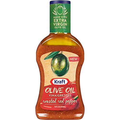 Kraft Olive Oil Vinaigrette Roasted Red Pepper Salad Dressing (14 oz Bottle) ()