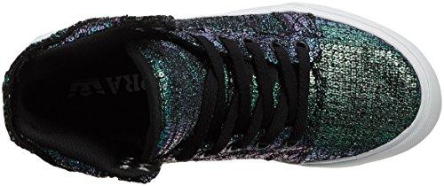 Supra Skytop - Scarpe da Ginnastica Alte, Donna Nero (Black Sequin)
