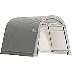 ShelterLogic Shed-in-a-Box RoundTop, Grey, 10 x 10 x 8 ft.
