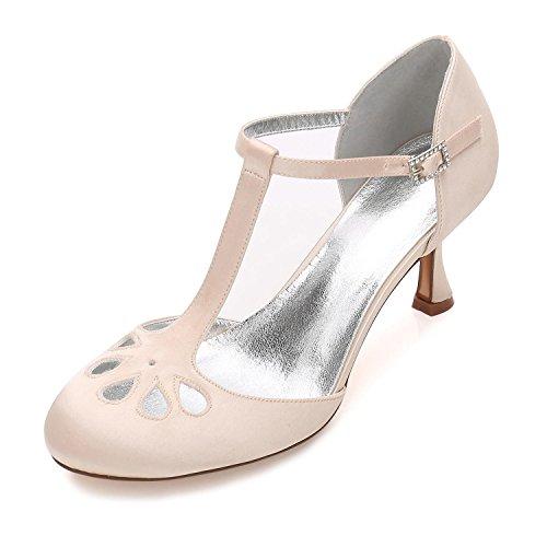 zapatos Champagne Wedding yc L Tacón Zapatos Honor Party 28 Bajo De Boda Personalizados Dama Mujeres F17061 Evening USqaORqw