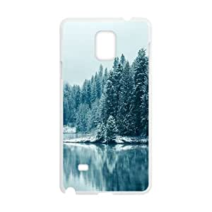 Snow Pines Winter Lake iOS7 Samsung Galaxy Note 4 Cell Phone Case White DIY GIFT pp001_8143278