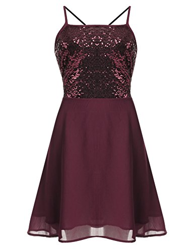 Women's Sexy Chiffon Evening Party Cocktail Sequins Mini Dress - 3