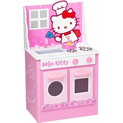 Amazon Com Hello Kitty Classic Kitchen Play Set Toys Games