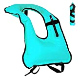 Supertemblor Inflatable Snorkel Vest Adult life jackets Vests Freediving Swimming Safety Snorkeling Load Up To 220 Ibs