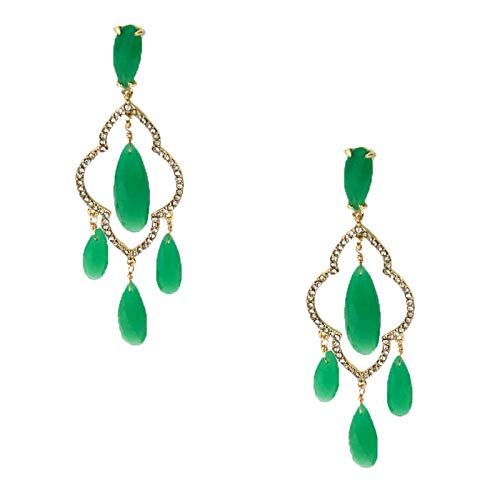 Kate Spade Lantern Gems Chandelier Drop Earrings, Green
