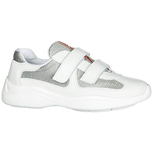 Prada Leather Shoes s Cup White Trainers Sneakers Women's America qEqnwrTx