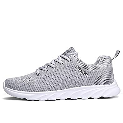 Ahico Running Shoes Men Air Cushion Mens Tennis Shoe Lightweight Fashion Walking Sneakers Breathable Athletic Training Sport Size: 8 Women/6.5 Men