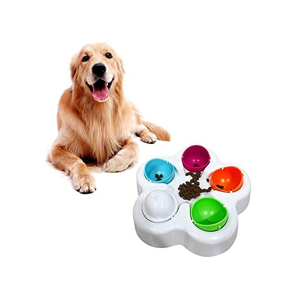 KOBWA Unique Dog Puzzle Toy, Pet Puzzle Feeder Bowl, Fun Interactive IQ Game to Hide Treats in - Improve Concentration - Reduce Hyperactivity, Puzzle Smart Toys for Small Medium Large Dogs Cats 4